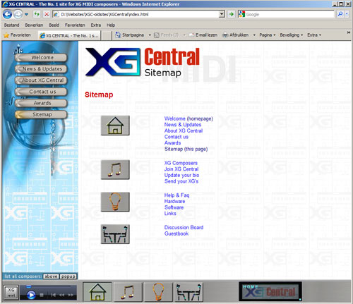The design of XG-Central in 2001, made by JRG (The Grid)
